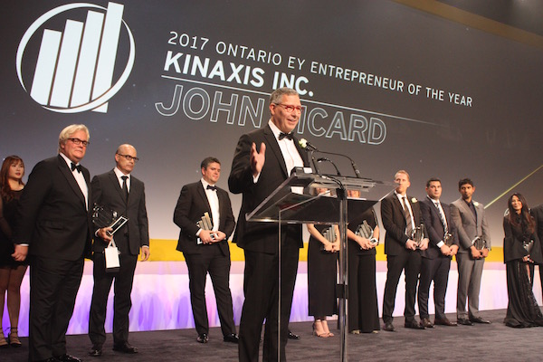 Photo by Karen Lloyd from the Ottawa Business Journal: John Sicard, 2017 Ontario EY Entrepreneur of the Year