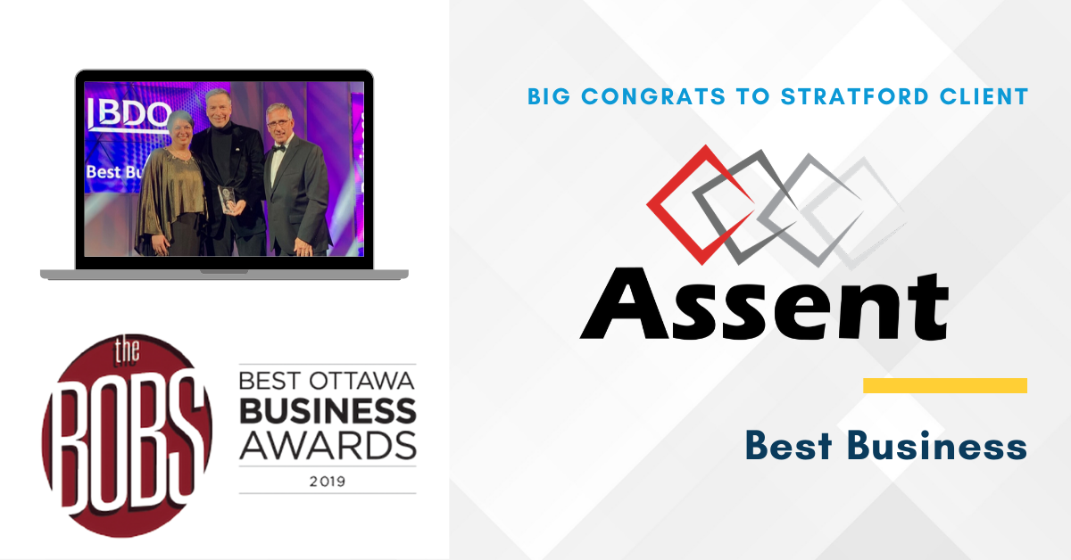 Congrats To Client Assent Compliance On Winning Best Business Award Stratford Managers